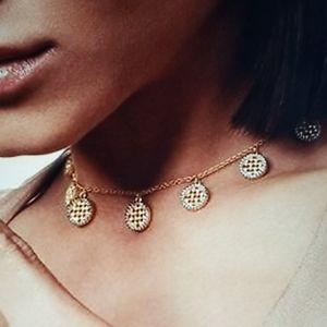 Freida Rothman Lattice Charm Choker Necklace